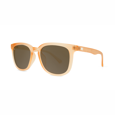 lenoor crown knockaround paso robles sunglasses frosted rose quartz amber