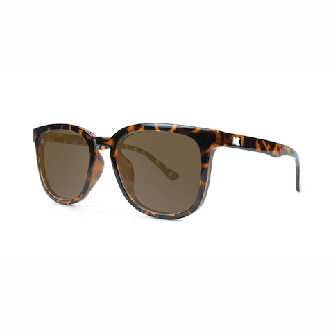 lenoor crown knockaround paso robles sunglasses glossy tortoise shell amber