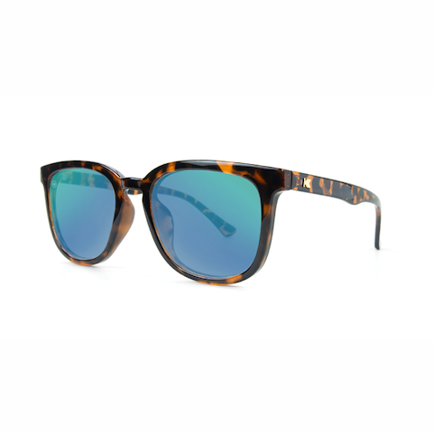 lenoor crown knockaround paso robles sunglasses glossy tortoise shell green moonshine