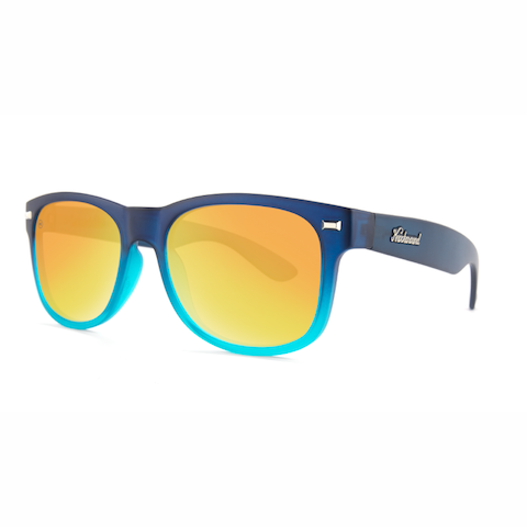 lenoor crown knockaround fort knocks sunglasses frosted navy blue fade sunset