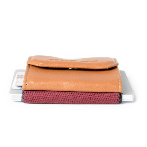 lenoor crown space wallet rose cognac 2.0 push