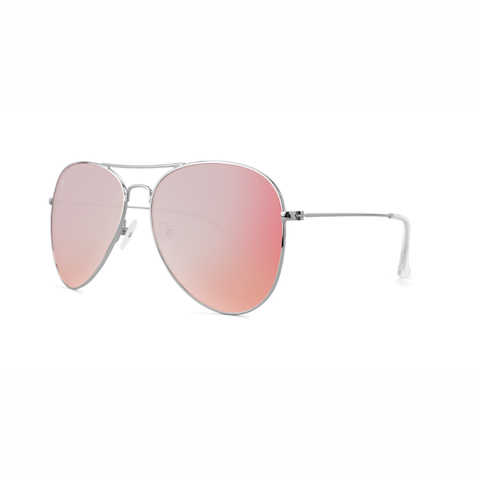 lenoor crown knockaround mile highs sunglasses silver rose