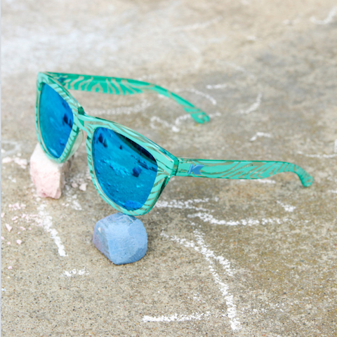 lenoor crown knockaround kids premiums sunglasses mint zebra aqua