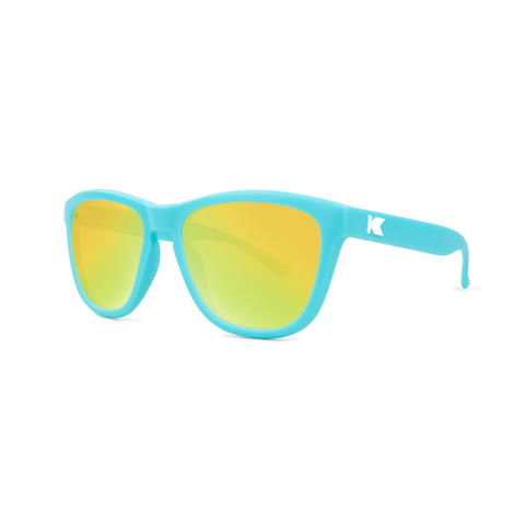 lenoor crown knockaround kids premiums sunglasses blue yellow