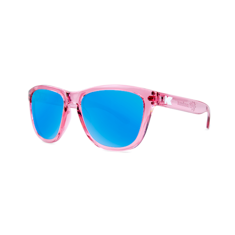 lenoor crown knockaround kids premiums sunglasses glossy clear pink aqua