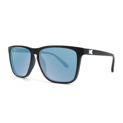lenoor crown knockaround fast lanes sunglasses matte black sky blue