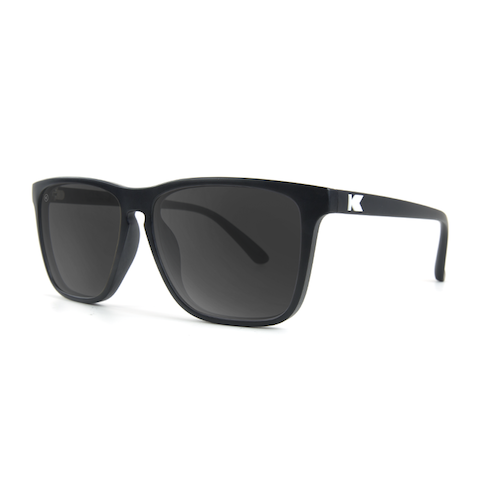 lenoor crown knockaround fast lanes sunglasses matte black smoke