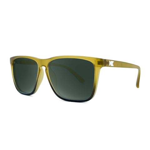 lenoor crown knockaround fast lane sunglasses frosted amber fade green