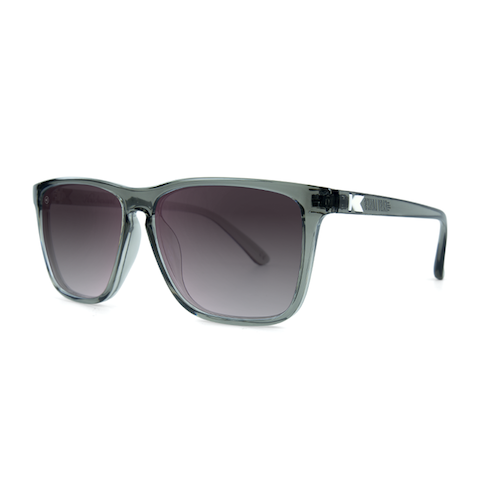 lenoor crown knockaround fast lanes sunglasses glossy grey monochrome