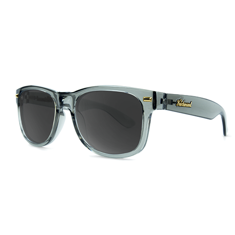 lenoor crown knockaround fort knocks sunglasses glossy grey monochrome