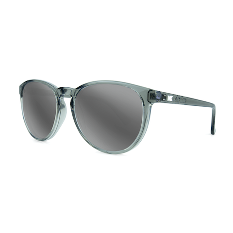 lenoor crown knockaround mai tais sunglasses glossy grey monochrome