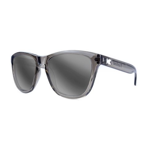 lenoor crown knockaround premiums sunglasses glossy grey monochrome