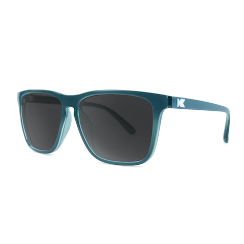 lenoor crown knockaround fast lanes sunglasses glossy teal smoke
