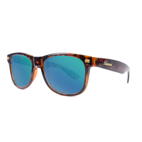 lenoor crown knockaround fort knocks sunglasses glossy tortoise shell green moonshine