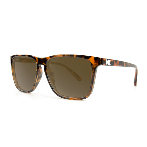 lenoor crown knockaround fast lanes sunglasses glossy tortoise shell amber