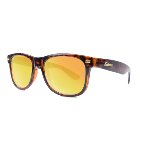 lenoor crown knockaround fort knocks sunglasses glossy tortoise shell sunset