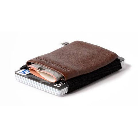 lenoor crown space wallet black chocolate classic