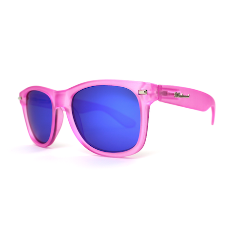 lenoor crown knockaround fort knocks sunglasses frosted bubblegum pink moonshine