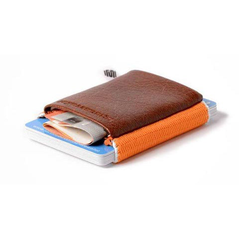 lenoor crown space wallet sunset brown classic