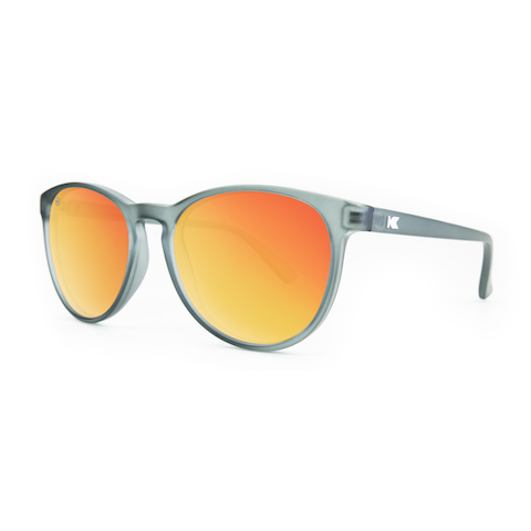 lenoor crown knockaround mai tais sunglasses frosted grey red sunset