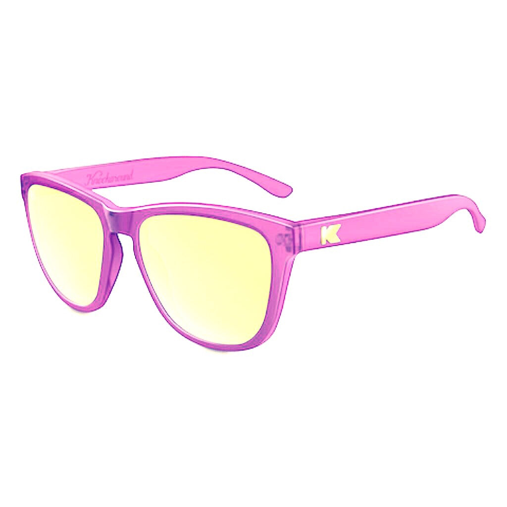lenoor crown knockaround premiums sunglasses frosted lavender sunset