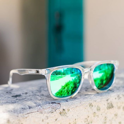 lenoor crown knockaround paso robles sunglasses clear green moonshine