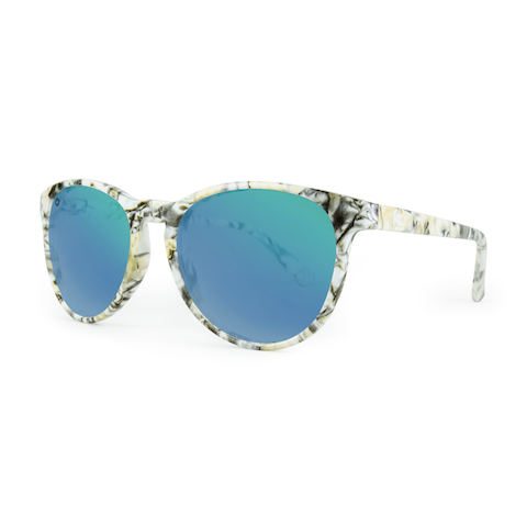 lenoor crown knockaround mai tais sunglasses marble green moonshine