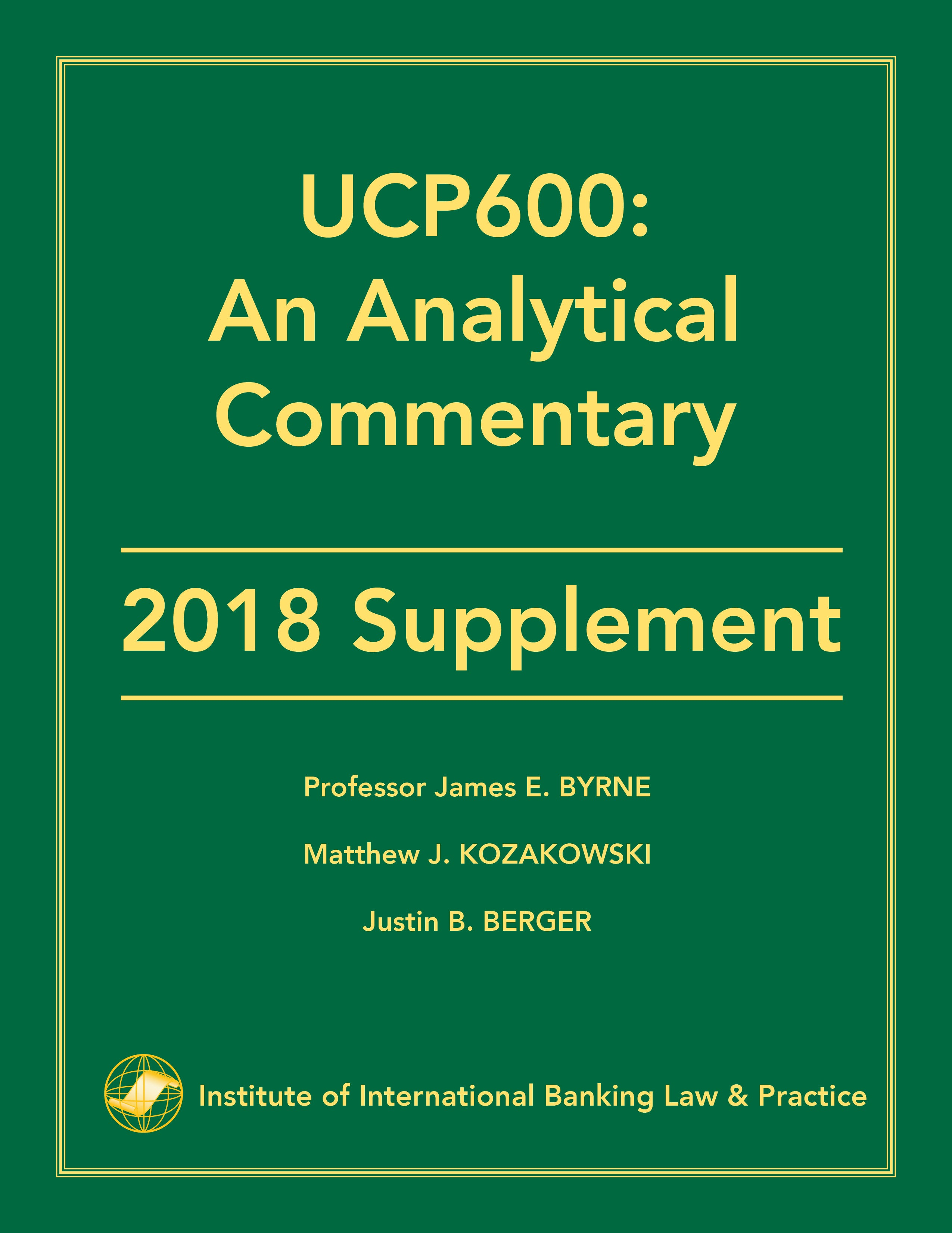 UCP600 Analytical Commentary 2018 Supplement