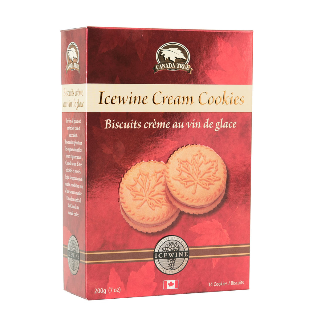 Red box of Icewine Cream Cookies
