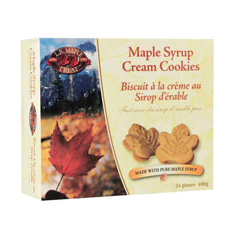 Maple Syrup Cream Cookies in a box