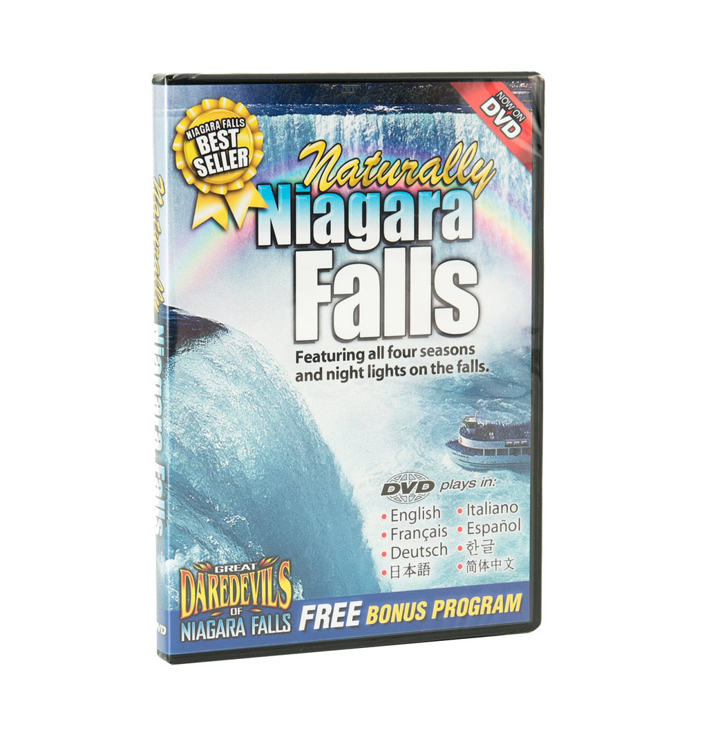 Front of DVD titled Naturally Niagara Falls
