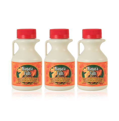 3-pack of plastic Maple Syrup jugs