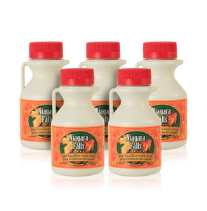 5-pack of plastic Maple Syrup jugs