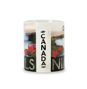 Side view of mug with Niagara Falls Canada
