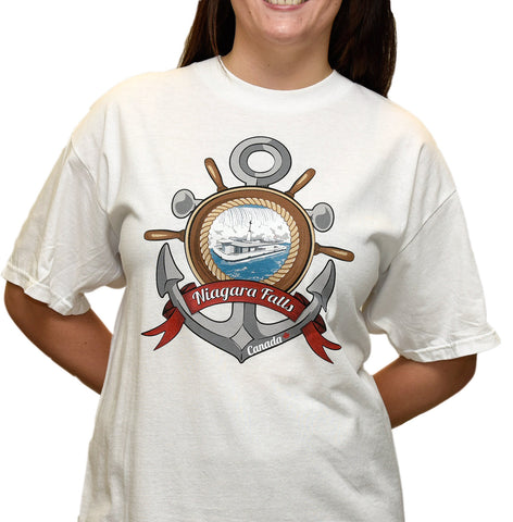 Niagara Falls Anchor T-Shirt Adult