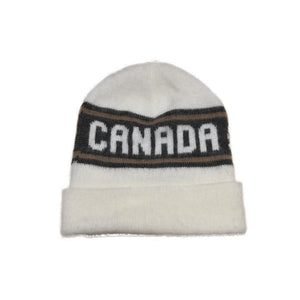 Canadian made white winter toque, 100% acrylic