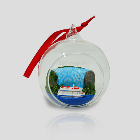 Hornblower Christmas Glass Bowl Ornament