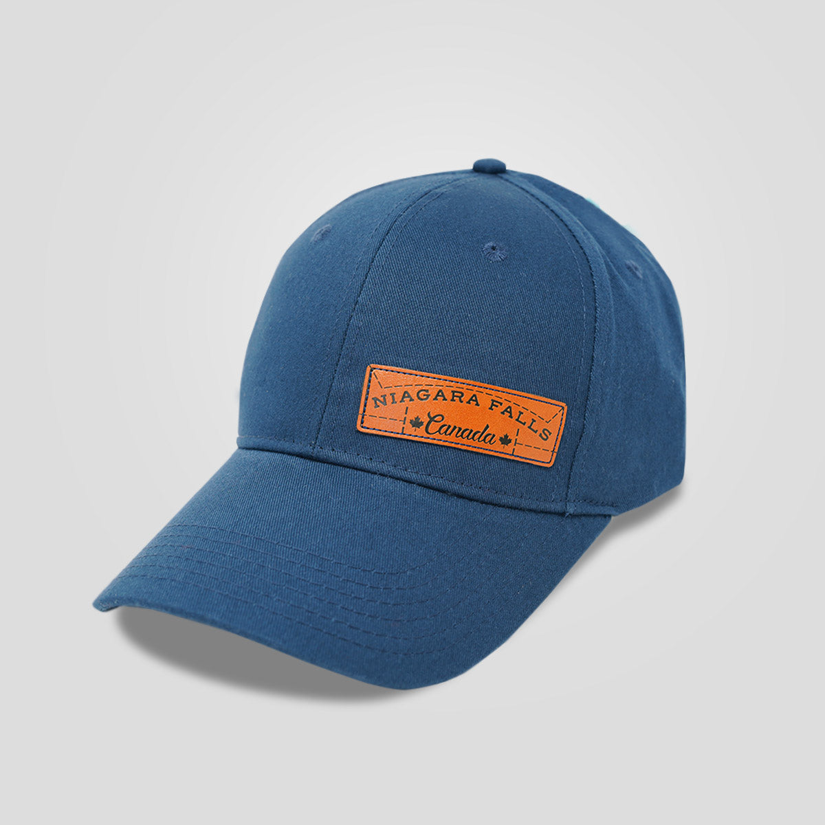 Niagara Falls Canada Leather Patch Hat