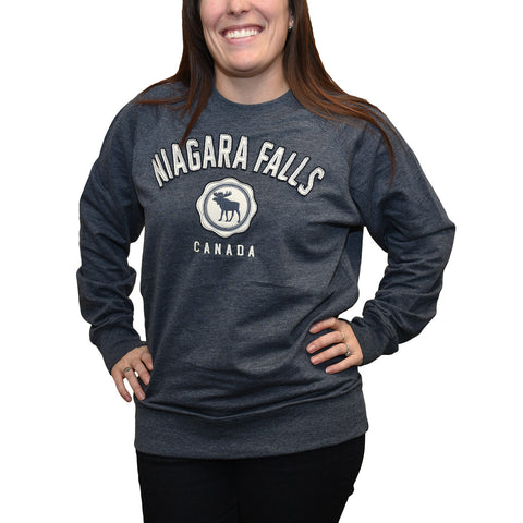 Adult Crew Sweatshirt Heather -Grey