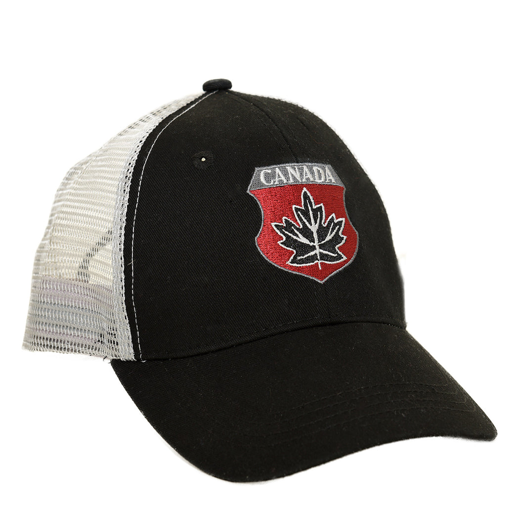 Black Canada shield baseball cap