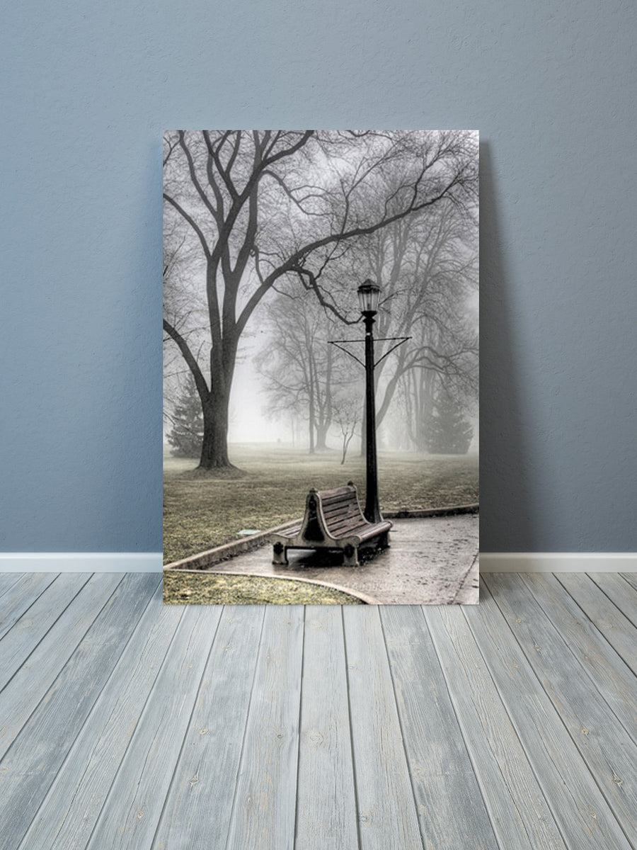 Bench In The Mist Augustino Art Print Multiple Sizes