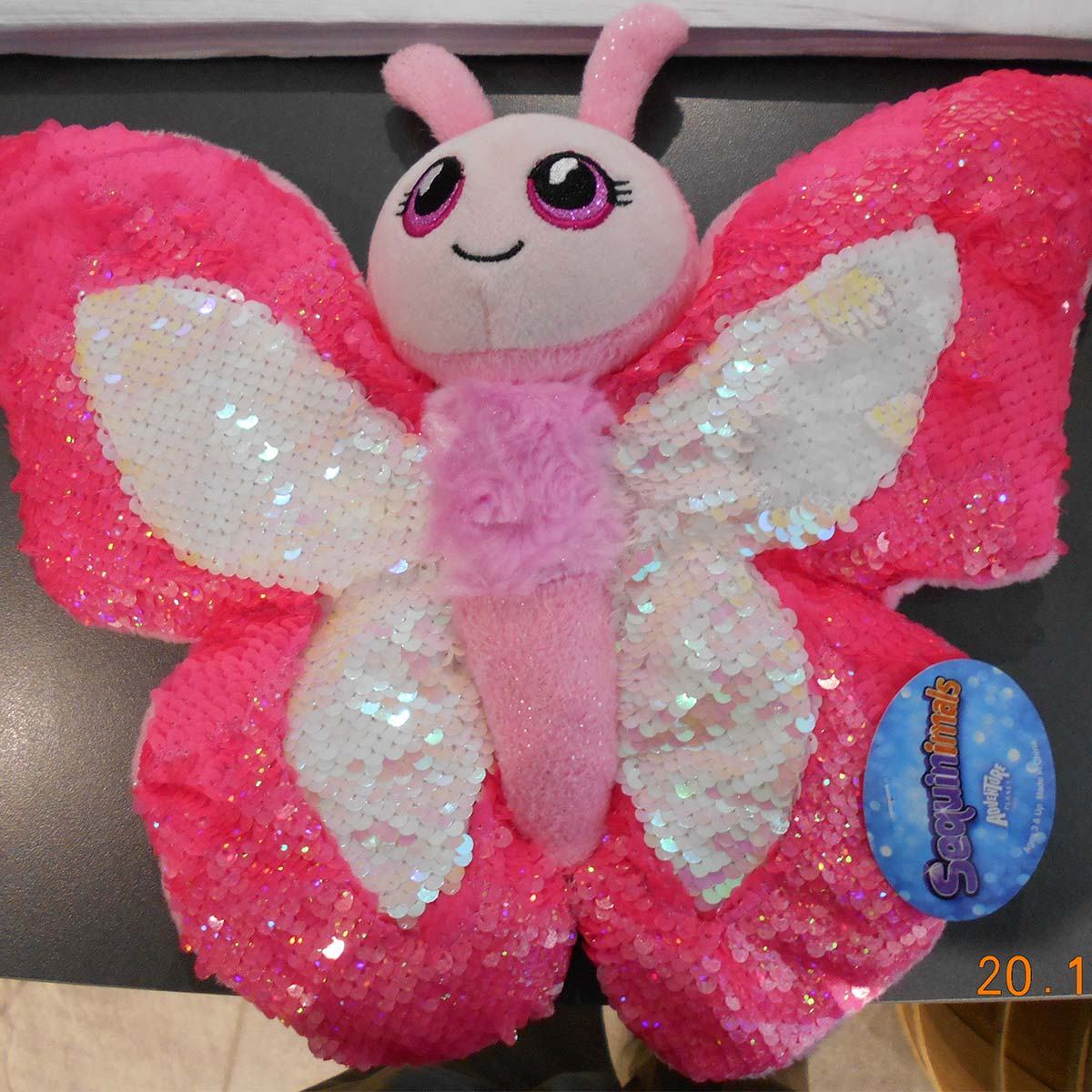 "Sequin 10"" Plush Butterfly"