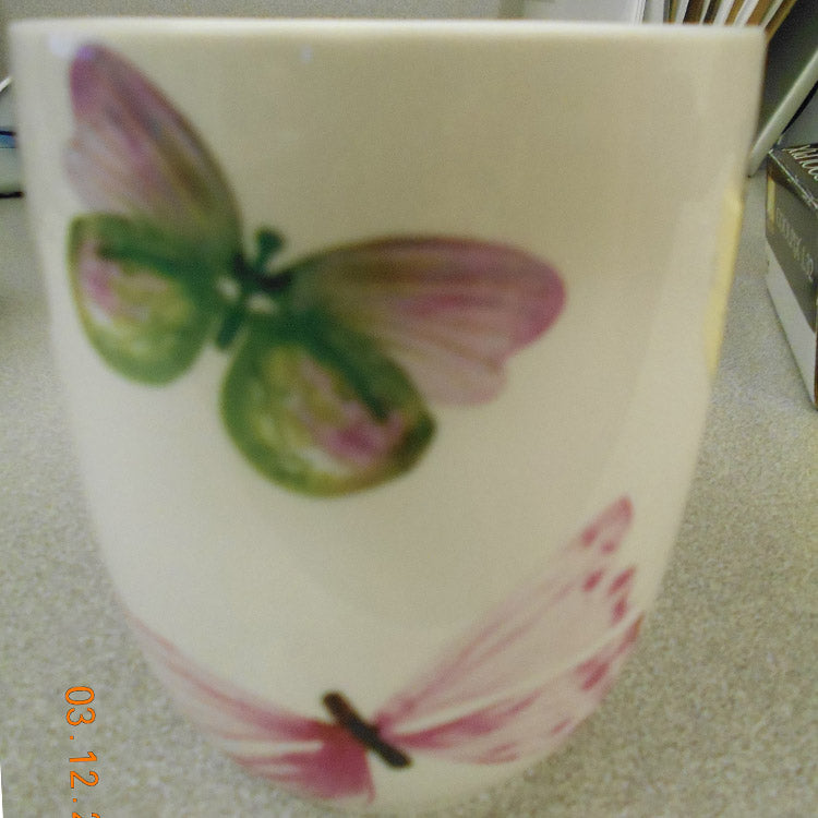 Pink Butterfly Belly Mug