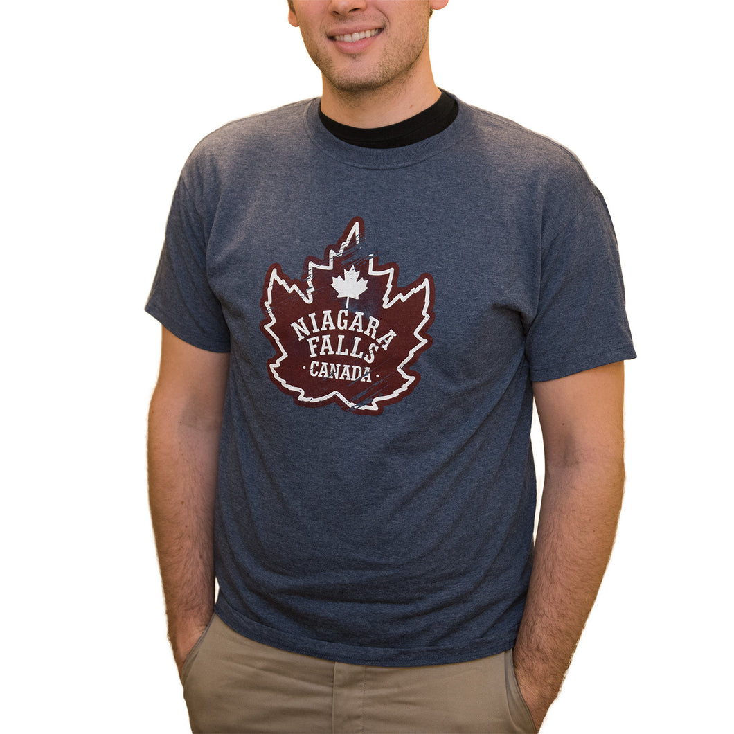 Adult Niagara Falls T-shirt - Maple Leaf Design