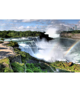 The American Falls with rainbow
