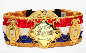 Replica of Muhammad Ali's Ring Magazine Championship Belt