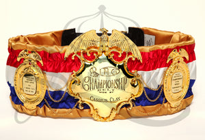 © SARTONK. Replica of Muhammad Ali's Ring Magazine Belt on display at