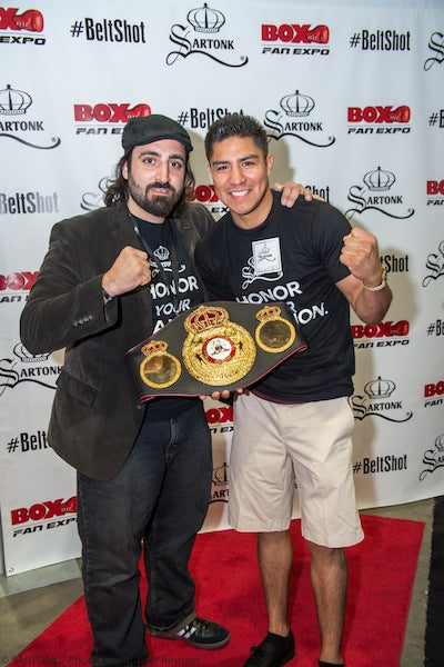 ©SARTONK. World Champion Jesse Vargas at Honor Your Champion's launch. Photo credit: Terje Riisnaes