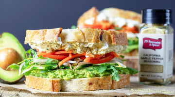 California Garlic Veggie Sandwich
