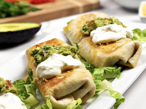 Fiesta Chili Lime Beef Chimichangas